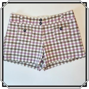 NEW YORK & COMPANY Plaid Shorts in Size 8